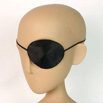 New Adults Halloween Pirate Eyepatch Black Costume Accessory - Single Eye Patch Useful