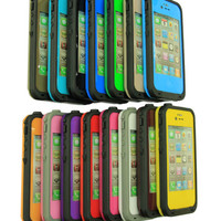waterproof Shockproof PC Dirt Proof Case Cover For iPhone 4 4S #15 Color
