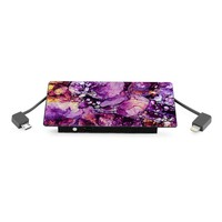 4000 mAh Portable Power Bank Phone Charger - Purple Galaxy Marble