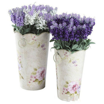 10 Heads Artificial Lavender Silk Flower Bouquet Wedding Home Party Decor for Display 01P1 2T2X
