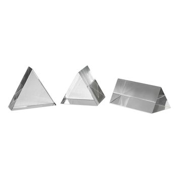 Triangle Trio Contemporary Crystal Sculptures - Set of 3 by Uttermost
