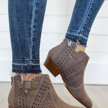Road Trip Booties - Dark Taupe