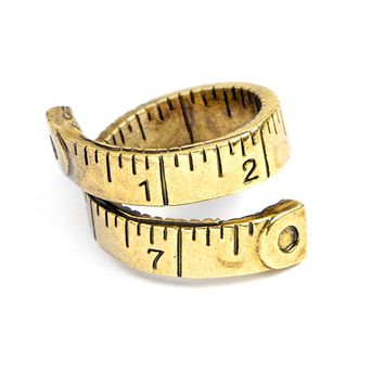 Unique Design Ruler Opening Adjustable Ring Love Measure Couple Ring For Woman's Jewelry Tape Measure Model Ring