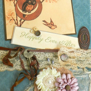 alice in wonderland wedding CUSTOM shabby scrapbook posh romantic boho woodland fairytale hipster guest book photo booth handmade custom