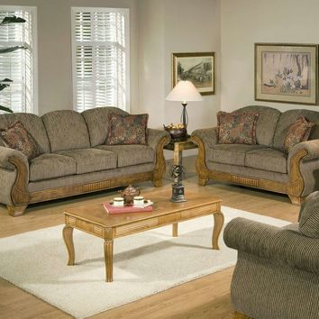 Serta 7400 Torrey Tomato Sofa and Loveseat
