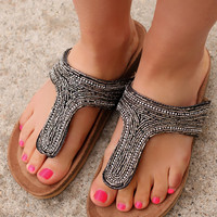The Finer Things Sandal - Black