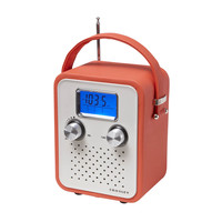 Portable Music Box Alarm Radio in Orange