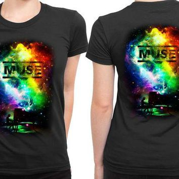 ONETOW Muse Fan Art Space 2 Sided Womens T Shirt
