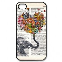 Generic Elephant Design Hard Case Cover Skin for iPhone 4/4s - Non-Retail Packaging - Multi
