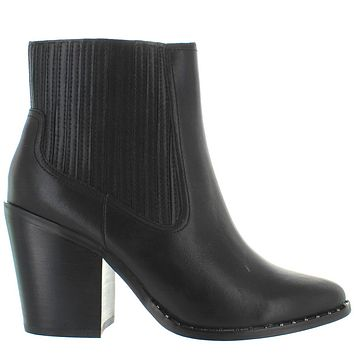 Chinese Laundry Sonya - Black Leather Dual Gore Studded Western Boot