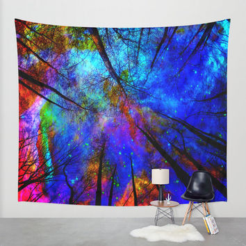 colorful forest,colorful forest wall tapestry,colorful forest wall decal,colorful forest wall decals,colorful forest wall tapestries,sky,