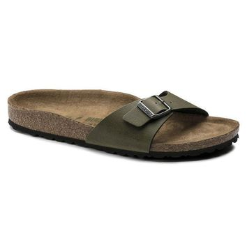 Sale Birkenstock Madrid Birko Flor Pull Up Olive 1009985 Sandals