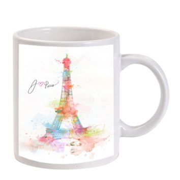 Gift Mugs | Paris Tower Eiffel Water Color Ceramic Coffee Mugs