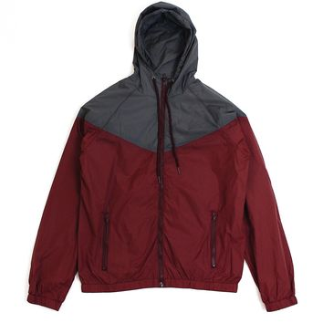 John Windbreaker (Burgundy/Charcoal)