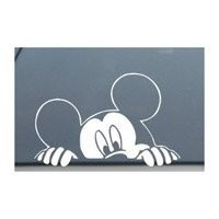 "Mickey Mouse Disney Peeking Looking Car Window Decal Sticker -SM0008- 4""L x 6""W"