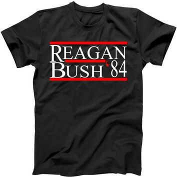 Reagan Bush 84 adult unisex classic Presidential t-shirt