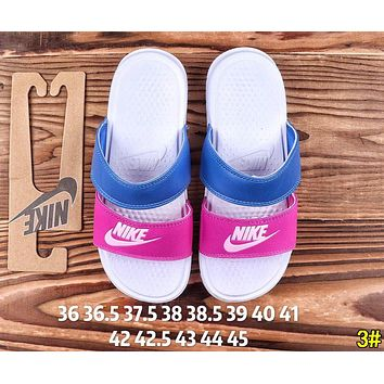 NIKE Fashion Women Men Casual Flats Slipper Sandals Shoes 3#