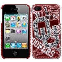 Oklahoma Sooners iPhone 4/4S Luxe 3D Soft-Touch Hard Case