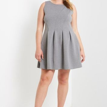 Sophistication Box Pleated Neoprene Dress Plus Size