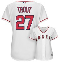 Majestic Los Angeles Angels of Anaheim Mike Trout Cool Base Replica Jersey - Women's, Size: