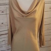 Vince Camuto Womens knit M Medium Long Sleeve Fall Camel Beige EUC