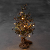 1.5ft Lit Gold Berry Christmas Tree | M&S