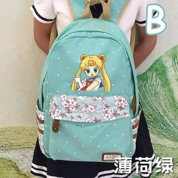 Student Backpack Children Anime Sailor Moon Cosplay Sailor Moon Cos Anime Campus Student Cute Backpacker Birthday Gift AT_49_3