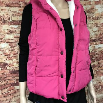Padded Vest with snap closures with sherpa lining
