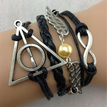 CREYUG3 1 pc Love Vintage Harry Potter theme bracelet Jewelry DS03400 = 1946912004