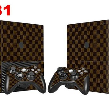OSTSTICKER Checked  For Microsoft 360 E For Microsoft xbox 360 E Sticker Skin Sticker For Xbox 360 E Decal free shipping