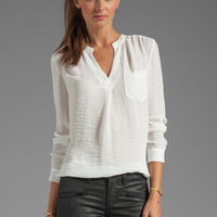 Rebecca Taylor Pocket Henley in Cream from REVOLVEclothing.com