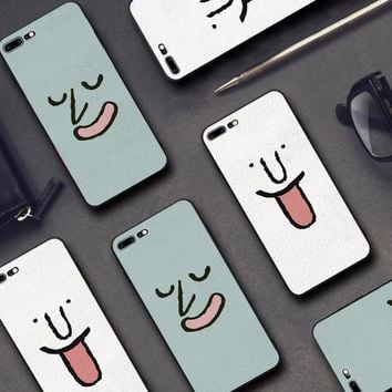Funny Face Soft Embossed iPhone Cases for iPhone 6, 6S, 6 Plus, 7, 7 Plus, 8