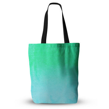 "Monika Strigel ""Blue Hawaiian"" Aqua Green Everything Tote Bag"