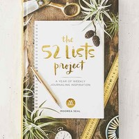 The 52 Lists Project: A Year Of Weekly Journaling Inspiration By Moorea Seal