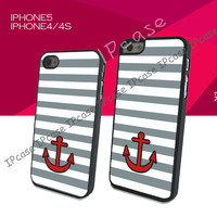 Anchor Case for Iphone 5 case -Iphone 4/4s.Birthday Gift or Lover Gift .NO.32