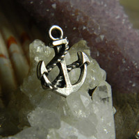 Tibetan Silver Anchor Charm Pendant 6 Pieces