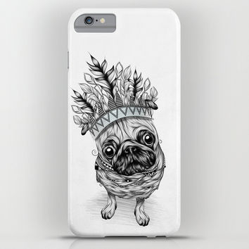 Indian Pug iPhone & iPod Case by LouJah