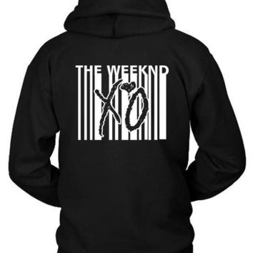 The Weeknd Xo Barcode Hoodie Two Sided