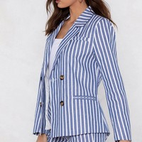 Line of My Life Striped Blazer