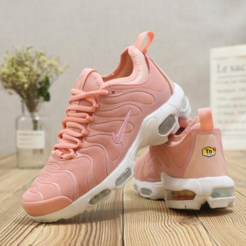 Nike Air Max AirMax Plus Tn Ultra White Pink Running Shoes - Best Deal Online