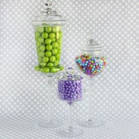 Shop Sweet Lulu - Glass Pedestal Jars