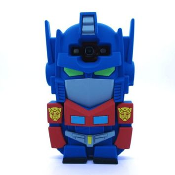 3D Cartoon Autobots Transformers Optimus Prime Soft Silicone Case Skin Protective Cover for Samsung Galaxy S3 Siii i9300