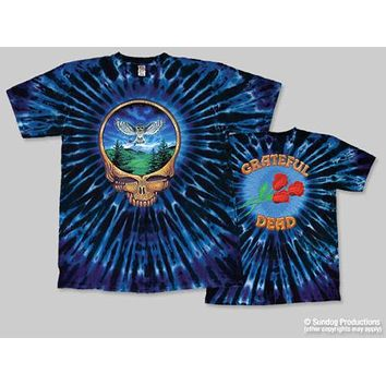 T-Shirts Sizes S-2XL New Grateful Dead Steal Your Face Owl Tie Dye T-Shirt