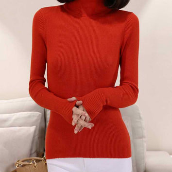 2015 Cashmere Wool  Sweater Women Turtleneck Pullover Ladies Shirt Hot Sale Female Warm Tops Sale Clothing  Free Shipping