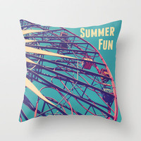 Summer Fun Throw Pillow by Josrick | Society6