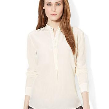 Lauren Ralph Lauren Silk Long Sleeved Blouse