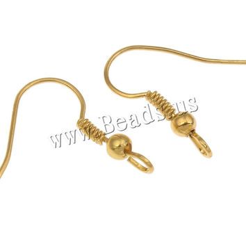 100pcs/lot Fish Dangle Metal Iron Earring Clasps Hooks Lever Back Earring Wires Fittings DIY Jewelry Findings Accessories