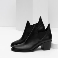 LEATHER ANKLE BOOTS WITH OPENINGS - View all-SHOES-WOMAN | ZARA United Kingdom