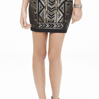 Art Deco Sequin Mini Skirt from EXPRESS