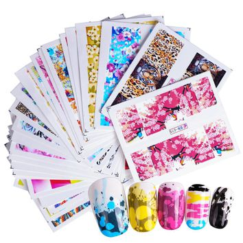 1pcs Colorful Nail Art Water Decals Charming Flower Painting Nail Transfer Stickers Nail Art DIY Decoration Slider SABN073-120